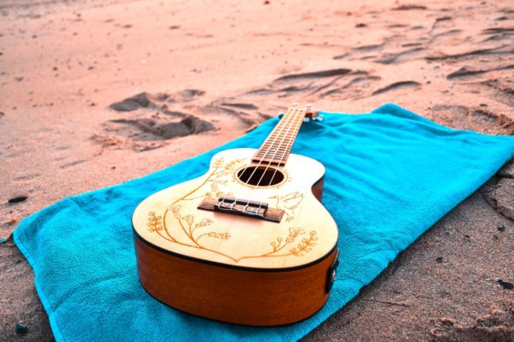 Guitars on the beach Lyme Regis